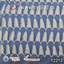2014 Apparel Garment Accessories Poly Milky Embroidery On Mesh