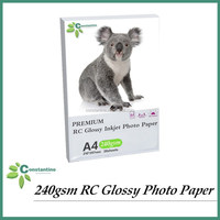 240gsm Resin coated RC high Glossy similar Lucky photo paper A4x20sheets/4x6x20sheets paper