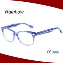 viandante occhiali classica gradiente di colore occhio telaio rettangolare occhiali da vista per unisex