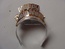 Happy new year paper tiara hair hoop party decoration