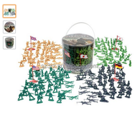 Plastic Army Men Action Figures / Big Bucket of Army Soldiers /Over 200 Piece Set mini soldier toy