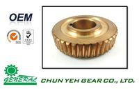 Mechanical OEM Brass Worm Gear Wheel