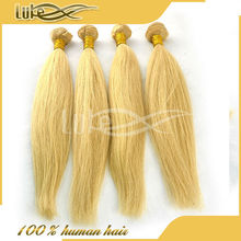 Machine double, 613# blonde hair weave, virgin remy human hair