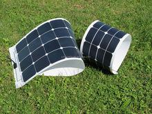 best price 100W Monocrystalline flexible solar panels for RV