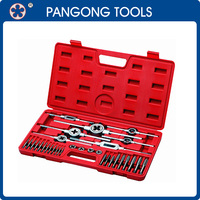High Hardness Alloy Steel Tap and Die Set in Blow Mold Case 35 Piece