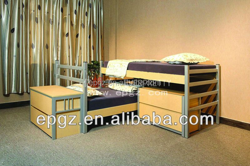 Wood Bedroom Bed Modern Double Bed Bedroom Furniture Solid Wood Bed