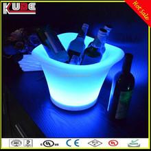 led beer ice bucket/beer bottle cooler holder