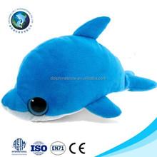 Lovely customized plush dolphin toy fashion cartoon stuffed soft plush blue dolphin hand puppet