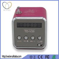 Music manual cube shape for mini digital speaker with TF USB slot for music