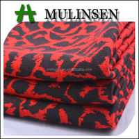Mulinsen Textile Knitted Heavy Weight Polyester Rayon Spandex Jacquard Single Jersey Fabric