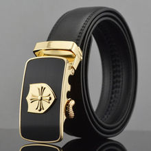 Fashion Waist Strap Belt Genuine Leather Belts Automatic Buckle Men's Waistband
