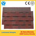 Roofing telhas telhas vermelho de asfalto telha de telhado