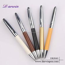 Metal twist leather business ball pen, ball point pen, pen