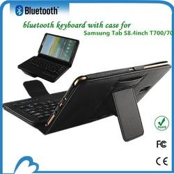 DFY newest bluetooth keyboard leather case for samsung galaxy tab s8.4 t700 t705