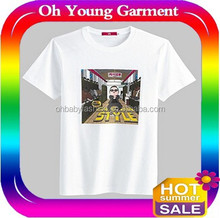 Printed t shirts/printing your logo t shirts/fashion produced t shirt