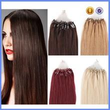 Top grade 1g/s Brazilian Virgin Loop Micro Ring Real Human Hair Extensions 50 Strands Loop Hair