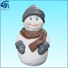 Christmas snowman plastic candy jar
