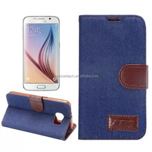 pu leather case for s6, wallet leather case for S6 G9200