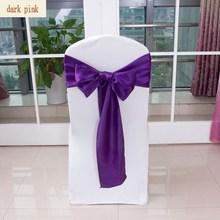 hot sale stain chair sash/self-tie wedding chair sash organza colour