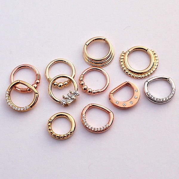 Wholesale unique 316l surgical steel body jewelry septum for Types of body jewelry rings