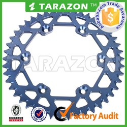 Rear sprockets by cnc machined for yamaha yz125 500
