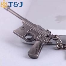 >>>Hot! Pendant Quality Fashion Metal Toy Gun Model Key Chains Holder Classic Army Weapon Desert Eagle Gun Keychain/