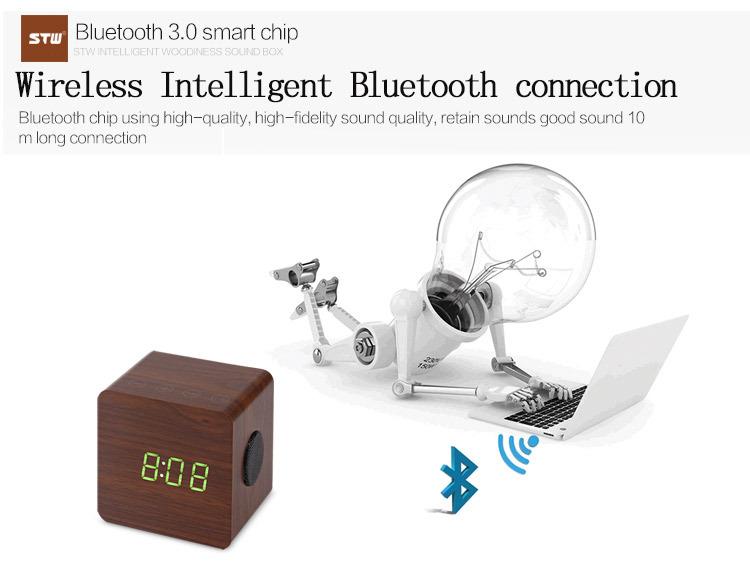 Meilleure qualité 1500 mAh En Bois nouveaux gadgets 2016 bluetooth haut-parleur