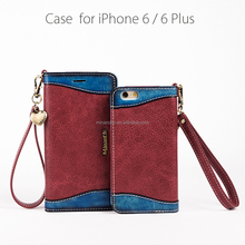 wholesale factory price flip genuine leather case cover for iphone 6