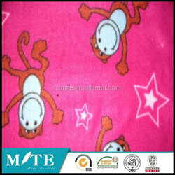 100%poly Monkey printed polar fleece DTY/FDY