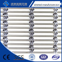 Decorative metal mesh home office partition screen,2.5 mm diameter metal curtain rod