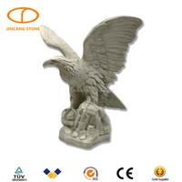 Garden life size stone eagle sculpture