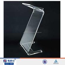 Handmade custom Z shape clear acrylic lectern stand (since 1999)