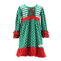 Latest design Xmas babies dresses winter indian baby dress designs thanksgiving dress for baby girls
