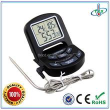 Large digital food/bbq 300-degree temperature controller alarm thermometer