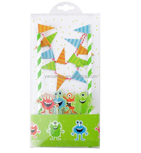 Novel DIY Monster Paper Party Decoration Cake Wrapper Flag Set