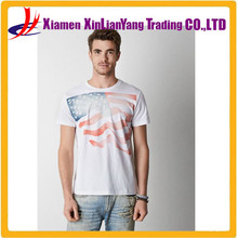 US national flag cotton blend polka dot jersey T-shirt Printed Tree Graphic T-Shirt