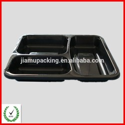 Cheap disposable plastic divided food trays plastic