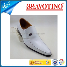 fashion high class genuine leather white wedding bridal shoes for men