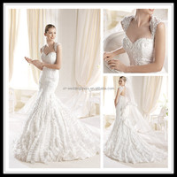 Sweetheart Appliqued Beaded Organza indian wedding dresses girls FXL-327