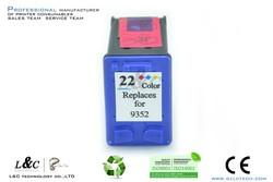 best selling remanufactured compatible for hp21 22 color deskjet ink cartridge
