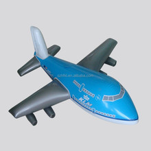 Plastic PVC inflatable airplane with logo printed for promotional