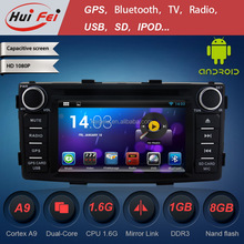 Huifei Android 4.4.4 Radio For Toyota Hilux With Capacitive Touch Screen Cortex A9 Dual Core Mirror Link Obd