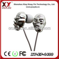 factory good price mp3 mp4 skull earphone