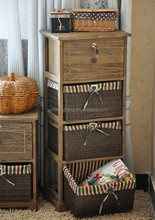 Living room multi drawers solid wood storage cabinet
