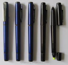 2015 good texture two head highlighter marker pen ball pen for students logo welcome CH-6256