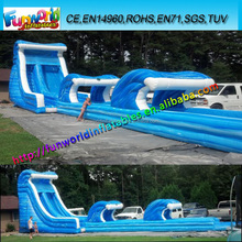 FUNSL-4138 Backyard Inflatable Water Slide, New Style Wave Slip Slide For Party