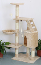 Fashionable Pet Products Corrugated Wooden Cat Scratchers Cat Tree
