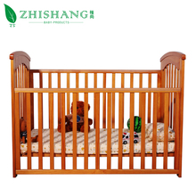 Modern baby cot bedroom furniture timber shelf best wooden baby cribs