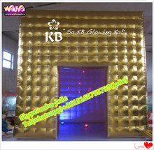 Golden cube square tent inflatable for outdoor event advertising A059