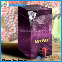 5L red wine bag in box
